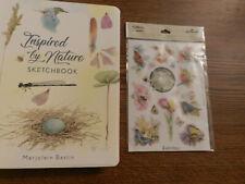 New Listing Marjolein Bastin Hallmark Layered Stickers Birds Butterflies+ Sketchbook new