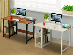 Wooden Computer Table Writing Desk  Home Office PC Laptop Workstation Storage UK