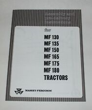 Massey Ferguson Assembly & Pre-Delivery Instructions MF 135, 165, 175, Manual