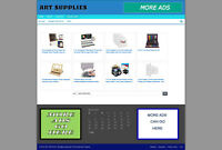 ART STORE WEBSITE  + UK AFFILIATES - FREE DOMAIN & HOSTING - FULL INSTALLATION