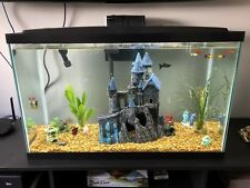 30 Gallon Fish Tank w/ Furniture Piece, Filter, Heater & Everything In Pics