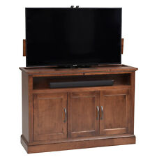 Beacon 360 Degree Swivel TV Lift Cabinet in Medium Brown Finish by TVLIFTCABINET