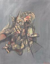 Liberio REGGIANI (Nizza 1931) SILENZI NEL BAR Olio su tela cm 100x80 anno 1962