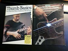 lot 2 Jazz Bass Thumb Basics Hellborg instructional books Riffs for . Laird