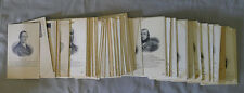 Victorian C1910's Lot of 130 French Famous People Postcards