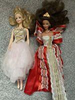 Mattel Barbie Happy Holidays 1997 Christmas Doll Brunette Sugar Plum Fairy LOT