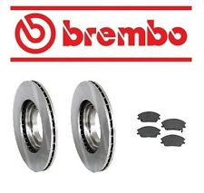 Front Left & Right Rotors & Pad Set Brake KIT Brembo fits Hyundai Accent 95-99