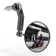 Extremo de la barra de Oxford +1 Negro Premium Aluminio Motocicleta Espejo de mano izquierda OX711 T