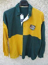 Maillot rugby AUSTRALIE AUSTRALIA WALLABIES shirt coton Line-Out damier ancien S