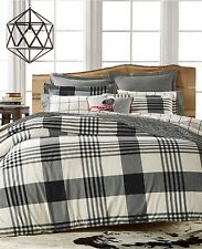 Martha Stewart Bedding Montana Plaid Onyx Cotton Flannel FULL Sheet Set D1177