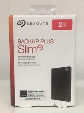 Seagate Backup Plus Slim+ 2TB Portable Storage Brand New Ships Free