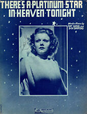 THERE'S A PLATINUM STAR IN HEAVEN TONIGHT Music Sheet-1937-JEAN HARLOW