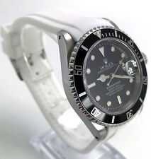 Rubber Dive Strap For Rolex Submariner White 20mm Curved End Everest Look In USA