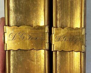 SUPER Fine Binding Gold - 2v Holy Bible & Common Prayer Books 1839 Set Oxford