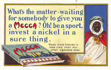 Mecca Cigarettes Whats the matter waiting for somebody to give a Mecca, Postcard