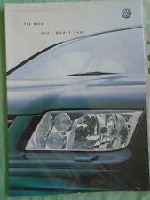 VW Bora range brochure 2001 model year pub Oct 2000
