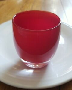 Wow! Glassybaby Votive Candle Holder Amore or Joy HANDMADE red Art Glass