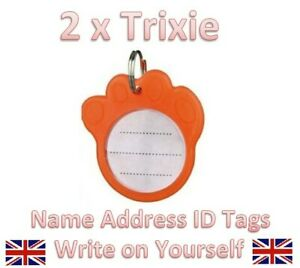 Glow in the DARK SAFETY Pet Dog Cat Collar ID Tag Name Address Identity