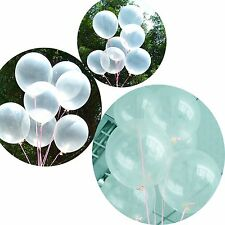 "10""x100pcs Transparent Clear White Latex Balloons Wedding Birthday Party Decora"
