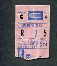 1978 Bruce Springsteen concert ticket stub MSG Darkness On The Edge Of Town
