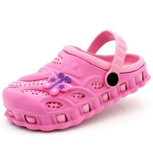 Girl Kids Toddler Garden Clogs Shoes Slip-On Casual Two-tone Slipper Sandals