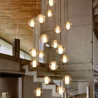 Modern Crystal Chandelier Glass Bubble Ball Pendant Hanging Light Fixture Decor
