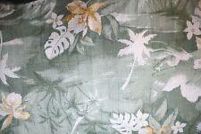 Maui Mens Hawaiian Large Shirt Hawaii Palm Trees Green Coconut Buttons EUC