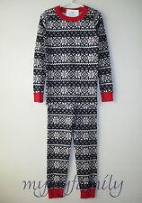 HANNA ANDERSSON Organic Long Johns Pajamas Navy Fair Isle 90 3T 3 NWT