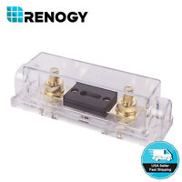 Renogy High Quality Solar In-Line ANL Fuse Holder w/ Fuse 20A 30A 40A 60A 100A