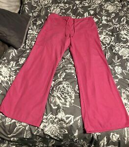 SB Scrubs Women's Scrub Bottoms Size Large Pink Elastic & Tie Waist Band NICE!!