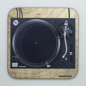 DJ Turntable - Novelty Hot Drinks Coaster / Bar Mat - Sturdy, Gloss, Original