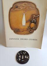 Antique Iron Tsuba Edo Era Japanese Sword Guard Samurai Katana Original Rare 10
