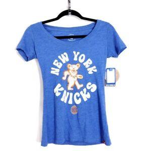 Sportiqe Grateful Dead New York Knicks Womens T Shirt Graphic Basketball NBA Top