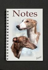 Greyhound Dog Notebook By Starprint  - Auto combined postage