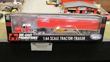 "DCP #30675 TERESI TRUCKING PETE 379 36"" BUNK SEMI  TRUCK DRY VAN TRAILER 1:64"