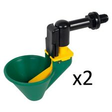 2 X LARGE CUP DRINKERS WITH EXTENTION ELBOW FOR POULTRY