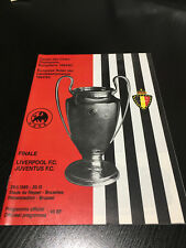 1985 EUROPEAN CUP FINAL PROGRAMME 29.5.1985 REPLICA LIVERPOOL VS JUVENTUS 29TH
