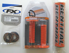 "Renthal Orange 10"" Crossbar Bar Pad Moose Grips Grip Donuts SXF EXC XC MXC"
