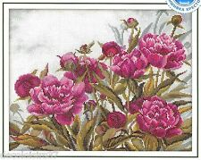 RTO Kit Broderie Point de Croix Compté Pivoines-Counted Cross Stitch Kit Peonies