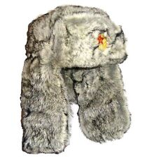 Mil-Com Mens Military Style Cossack Hat S-xl Fake Fur Winter Russian Headwear Grey 60cm - Large