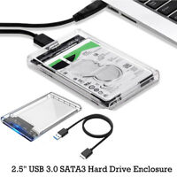 "2.5"" USB 3.0 SATA3 5gbps Hard Drive Enclosure Caddy Case FOR External HDD/SSD AU"