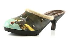 Icon LONG BRANCH Multi-Color Clog Heel With Fur Trim 7039 Size 7.5 M NEW!