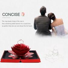 Romantic Rotating Rose Ring Box Creative Wedding Valentine Jewelry Gift Case