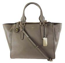 COACH 33545 CROSBY Carryall Fog Tone Smooth Leather Shoulder Bag $395