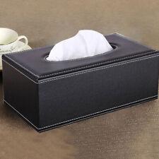 Pu Leather Facial Tissue Box Cover Holder Case Dispenser Organizer Tables