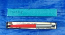 1960s Vintage Red Parker Jotter Ball Point Pen - United States Steel Advertising
