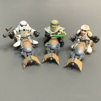 Lot 3x Star Wars Galactic Heroes Skywalker Scout Trooper Figure +3x Speeder Bike