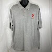 Coogi Australia Mens XXXL Short Sleeve Cotton Golf Polo Shirt Gray Rainbow Logo