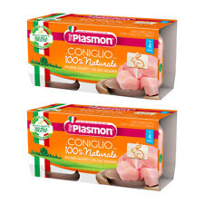 Plasmon Baby Food Rabbit Puree Conciglio Italian Alimenti per Bambini 80g x 4