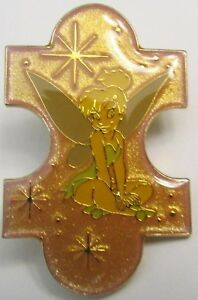 Disney Just the Girls Puzzle Piece Set Tinker Bell Pin